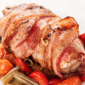 prepared duck and turkey roulade