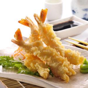 starters buffet tempura prawn